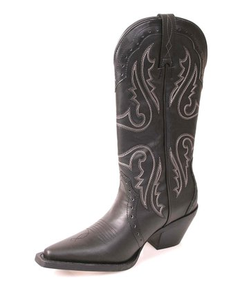 Black Trigger Cowboy Boot - Women