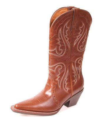Tan Trigger Cowboy Boot - Women