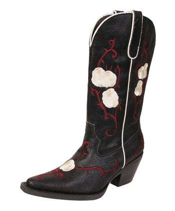 Black Buck Cowboy Boot - Women