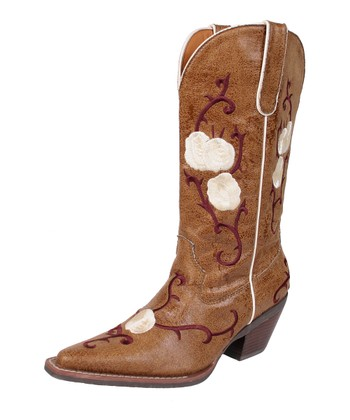 Tan Buck Cowboy Boot - Women