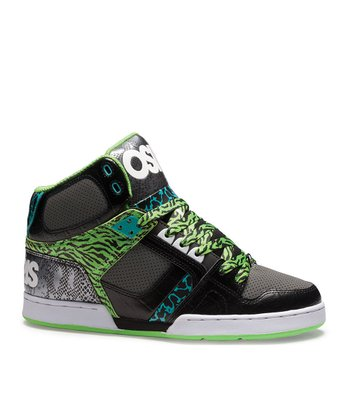 Black & Green NYC 83 Sneaker - Kids