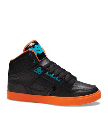 Black & Orange NYC 83 Vulc Hi-Top Sneaker