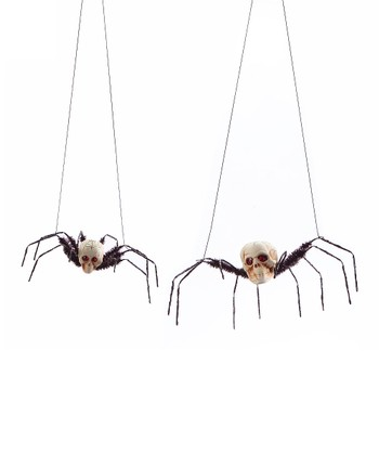 Skull Spider Ornament Set