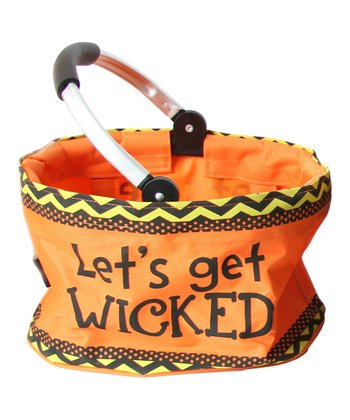 'Get Wicked' Mini Folding Market Basket
