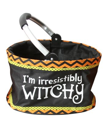 'Witchy' Mini Folding Market Basket