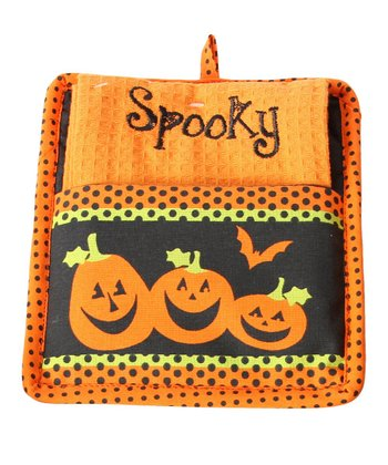 'Spooky' Pot Holder & Dish Towel