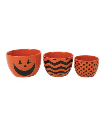 Nested Halloween Serving Bowl Set