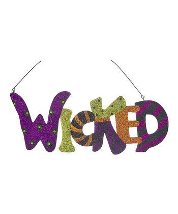 'Wicked' Glitter Wall Plaque