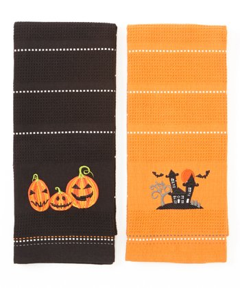 Haunted House Dish Towel Set