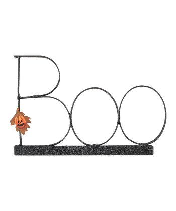 Metal 'Boo' Sign Décor