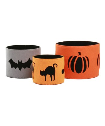 Trick or Treat Felt Bowl - Set of Three