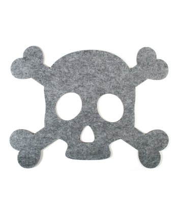 Skull & Bones Felt Placemat - Set of 12