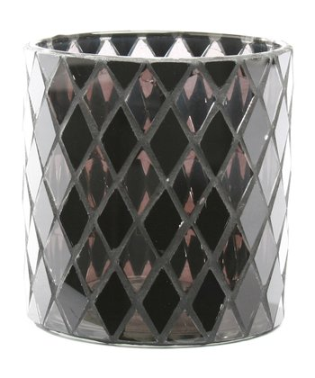 Black Diamond Mosaic Votive Holder