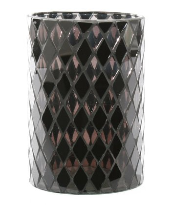 Black Diamond Mosaic Hurricane Candleholder