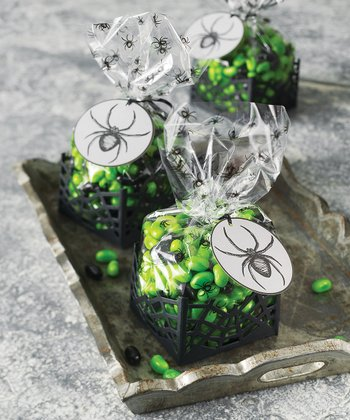 SPIDERWEB CELLOPHANE TREAT BAGS