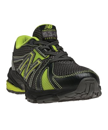 Black & Lime Green Lace-Up KJ634 Running Shoe