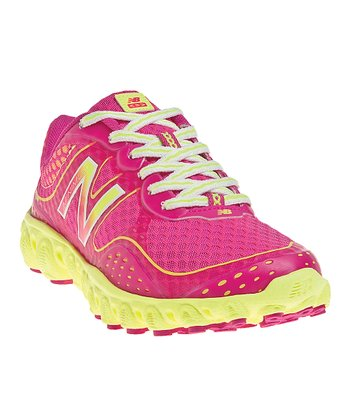 Diva Pink & Yellow Lace-Up K3090 Running Shoe