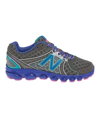 Silver & Purple Lace-Up KJ750 Running Shoe