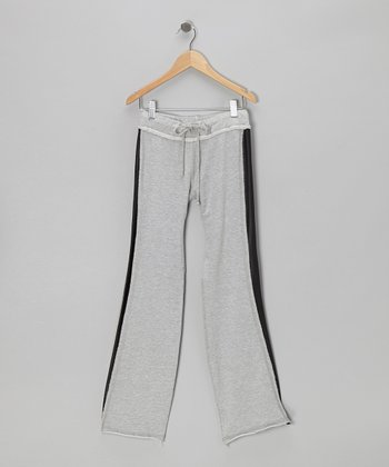 Heather Gray & Black Pants