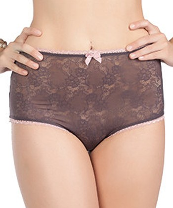 Dark Grape Madeline High-Waist Briefs - Women & Plus
