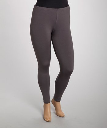 Gray Leggings - Plus