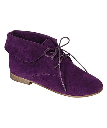 Purple Sandy Ankle Boot