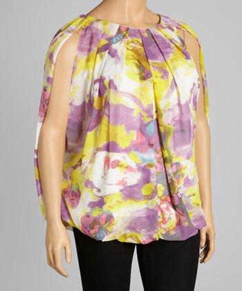 Yellow & Lavender Matisse Swing Top - Plus