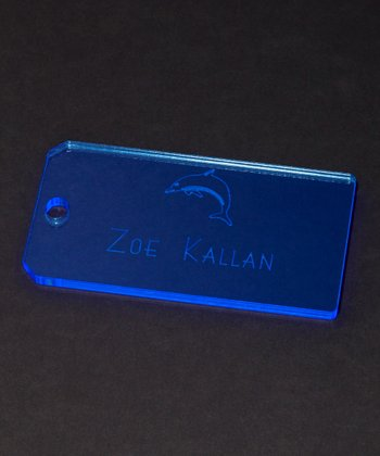 Blue Dolphin Personalized Tag - Set of Two