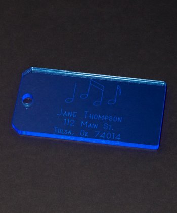 Blue Musical Notes Personalized Tag - Set of Two