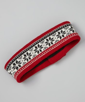 Red Snowflake Headband