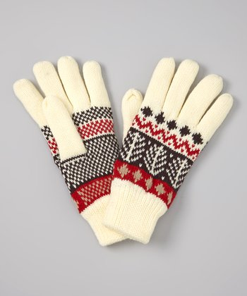Cream Pine Gloves