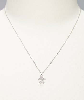 Sterling Silver Gingerbread Girl Pendant Necklace