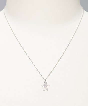 Sterling Silver Gingerbread Boy Necklace