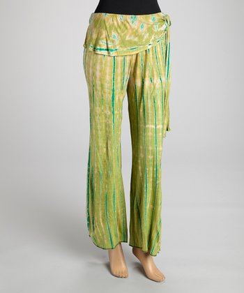 Lime Green Tie-Dye Pants