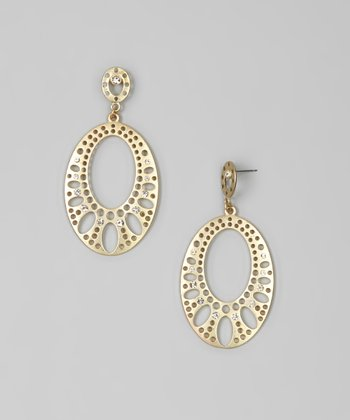 Matte Gold Bling Drop Earrings