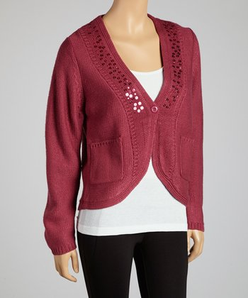 Rose Sparkle Cardigan
