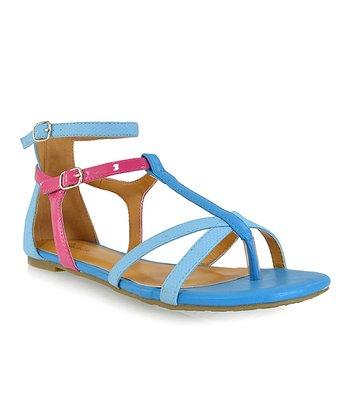 Shoe Republic LA Turquoise Muubaa Sandal