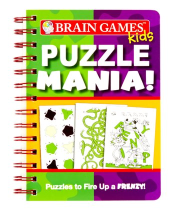 Brain Games Kids Puzzle Mania Mini Paperback