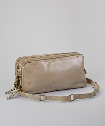 Metallic Taupe James Crossbody Bag