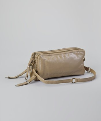 Metallic Taupe Minnie Crossbody Bag