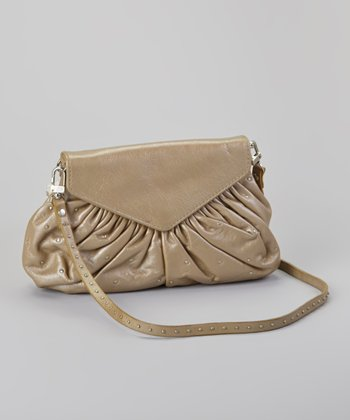 Metallic Taupe Grace Crossbody Bag