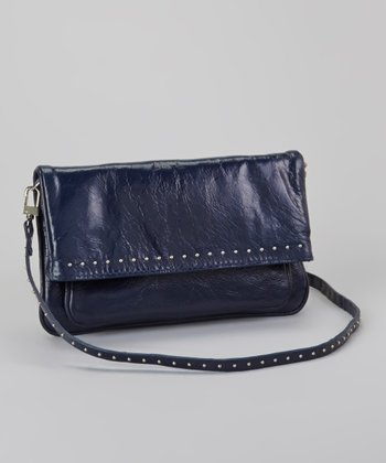 Navy Studded Crossbody Bag