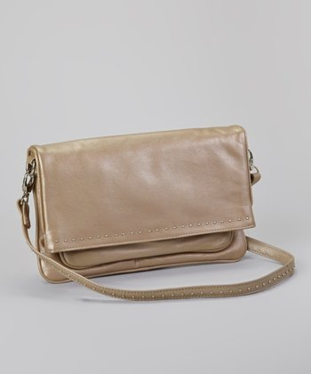 Metallic Taupe Lafayette Crossbody Bag