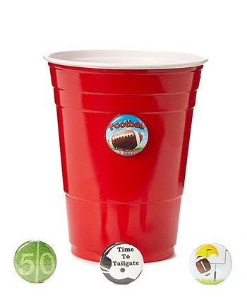 Football Time Wine Charm Set