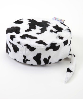 Black & White Cow Vibrating Plush Pillow