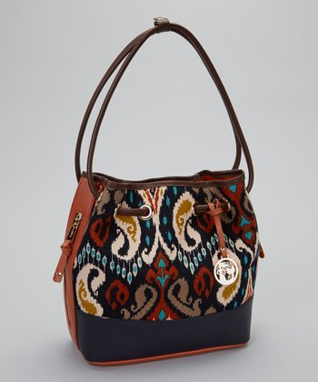 Brown & Orange Christina Bucket Bag