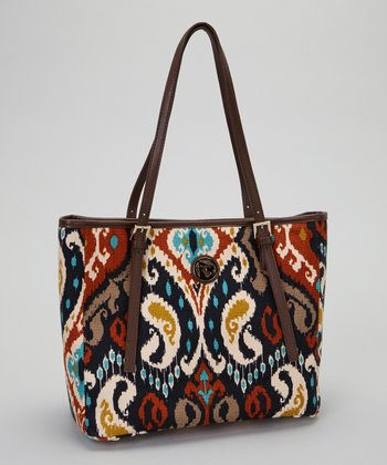 Brown & Orange Christina Tote