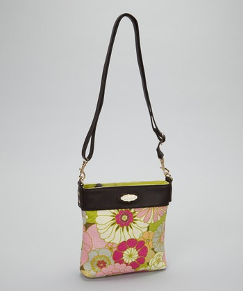 Spartina 449 Cream & Pink Camellia Crossbody Bag