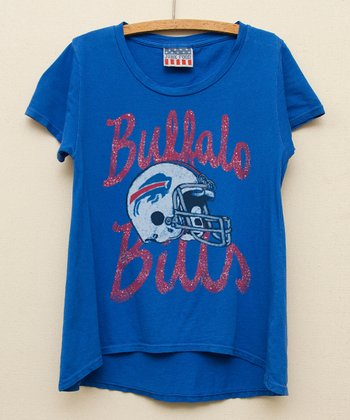 Royal Blue Buffalo Bills Hi-Low Tee - Girls
