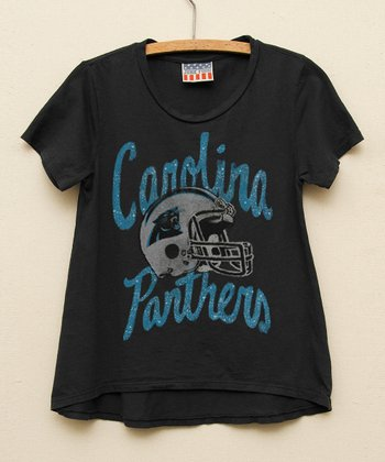 Black Carolina Panthers Hi-Low Tee - Girls